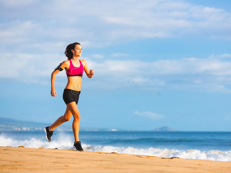 Sprawności fizycznej kobiety bieg zdjęcia stock