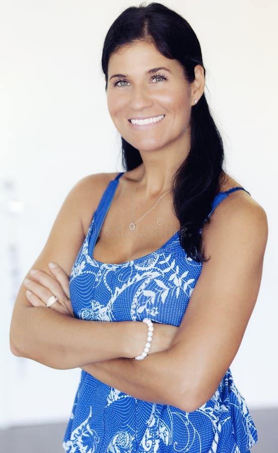 Sprawności fizycznej kobiety ono uśmiecha się obrazy royalty free