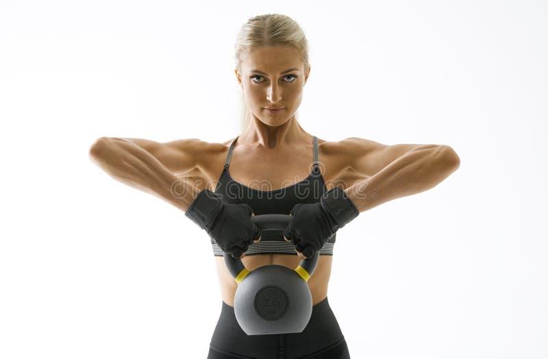 Sprawności fizycznej kobiety trening zdjęcie royalty free