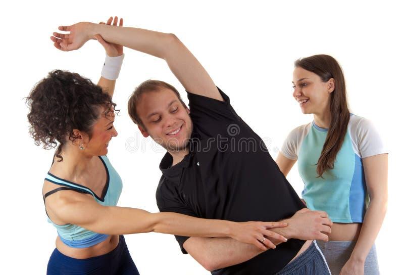 sprawności fizycznej mężczyzna stażowe kobiety młode zdjęcie royalty free
