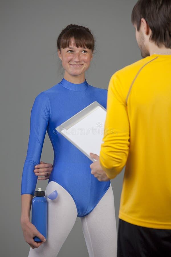 sprawności fizycznej osobista trenera kobieta zdjęcia royalty free