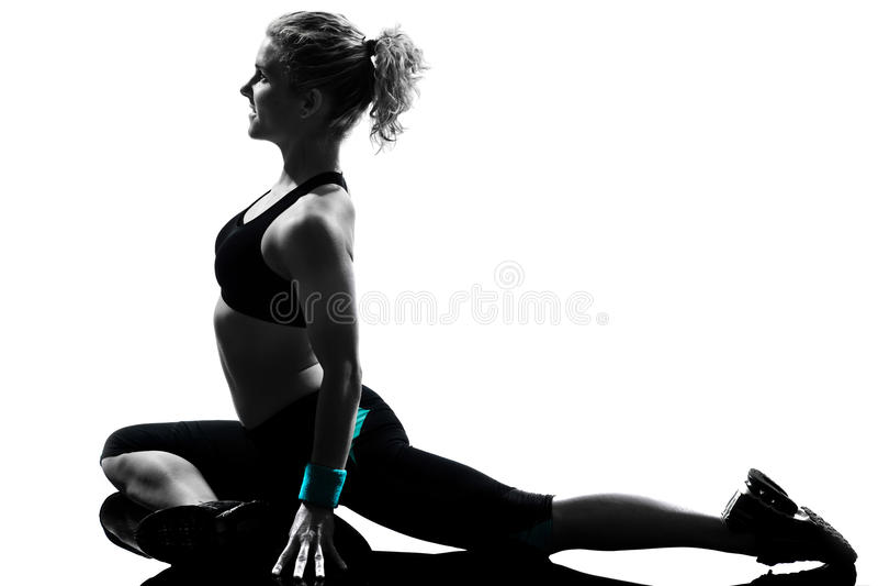 sprawności fizycznej postury kobiety trening fotografia stock