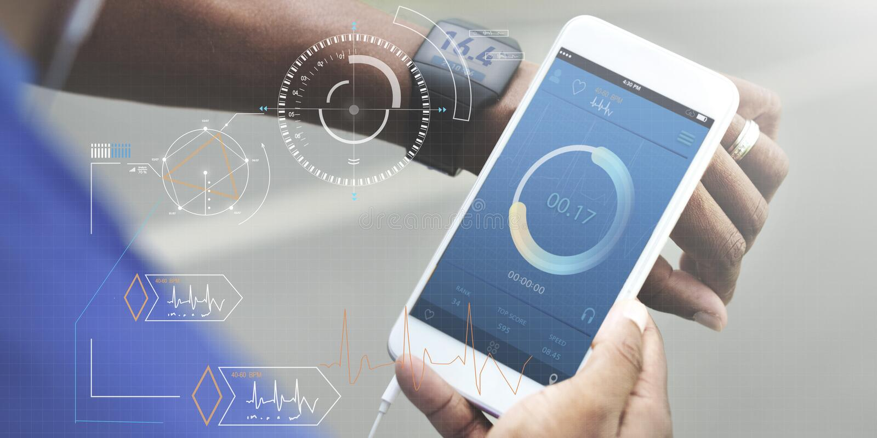 Sprawności fizycznej techniki opieki zdrowotnej Wellness innowaci pojęcie fotografia stock