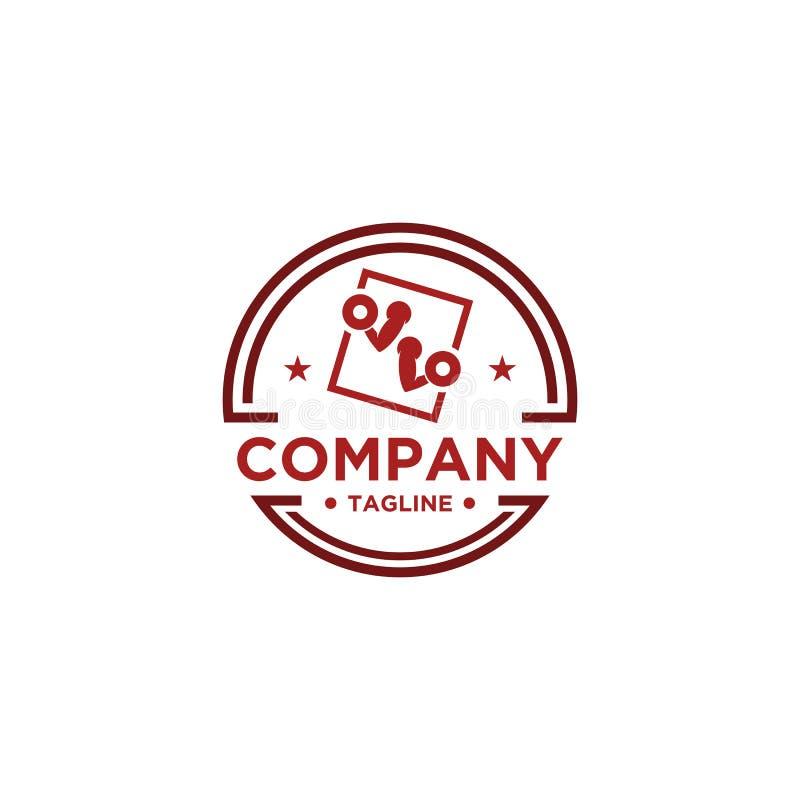 Sprawno?? fizyczna logo Symbol sporta barbel, zdrowie, ilustracja świeży życie ilustracja wektor