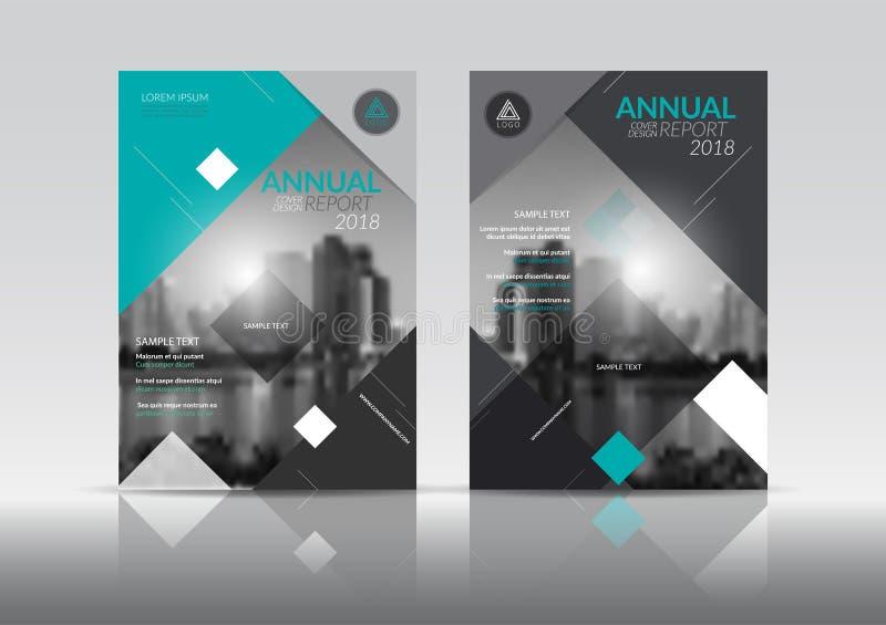 Sprawozdanie roczne broszurki ulotki projekta okładkowy szablon z abstrakcjonistycznym wektorowym tłem ilustracji