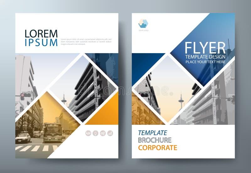 Sprawozdanie roczne broszurki ulotki projekta szablonu wektor, ulotki cov royalty ilustracja