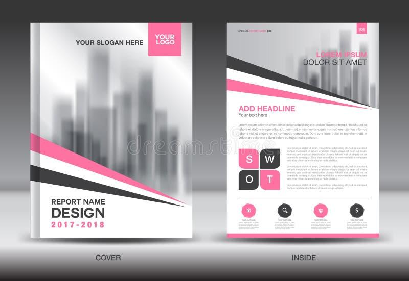 Sprawozdanie roczne broszurki ulotki szablon, menchii pokrywy projekt ilustracji