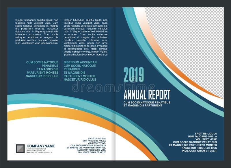 Sprawozdanie Roczne Okładkowego szablonu projekt royalty ilustracja