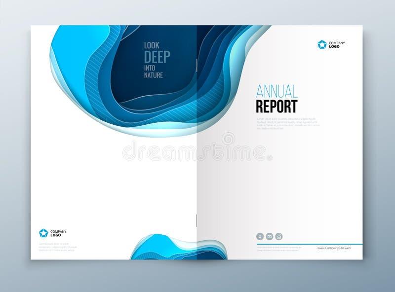 Sprawozdanie roczne projekt Papier rzeźbi abstrakt pokrywę dla broszurki ulotki magazynu sprawozdania rocznego lub katalogu proje ilustracji