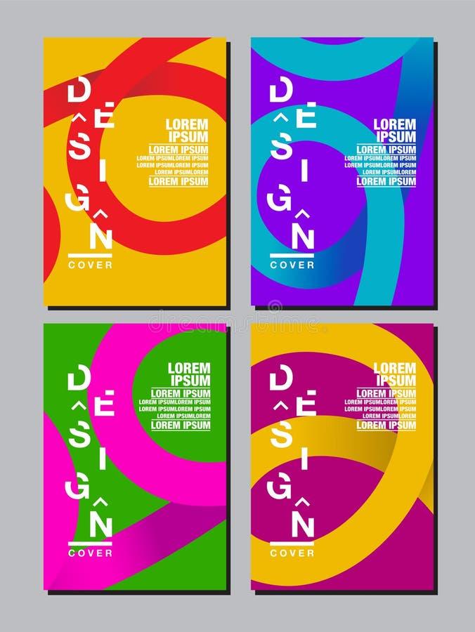Sprawozdanie roczne 2018,2019,2020, przyszłość, biznes, szablonu układu projekt, pokrywy książka wektorowi kolorowi, infographic, ilustracji