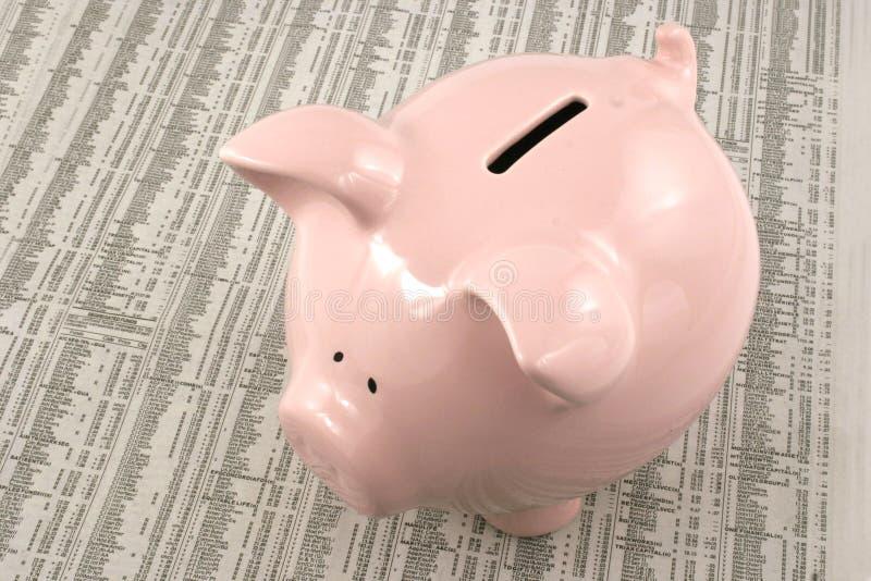 sprawozdanie rynku bank świnki obrazy stock