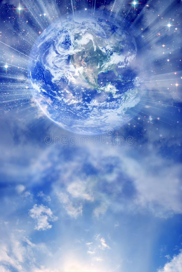 Sprawy duchowe Ziemia royalty ilustracja