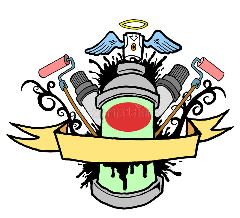 spray 01 royaltyfri illustrationer