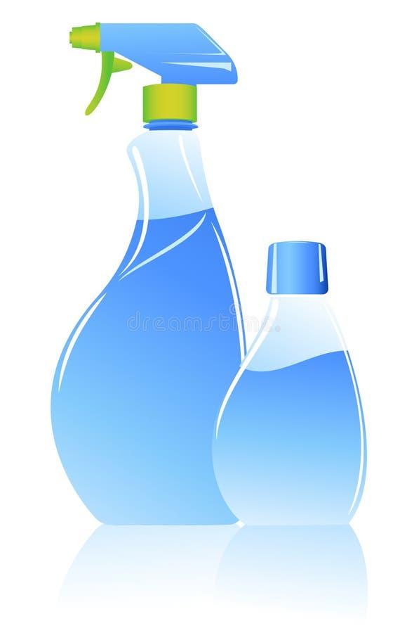 spray royaltyfri illustrationer