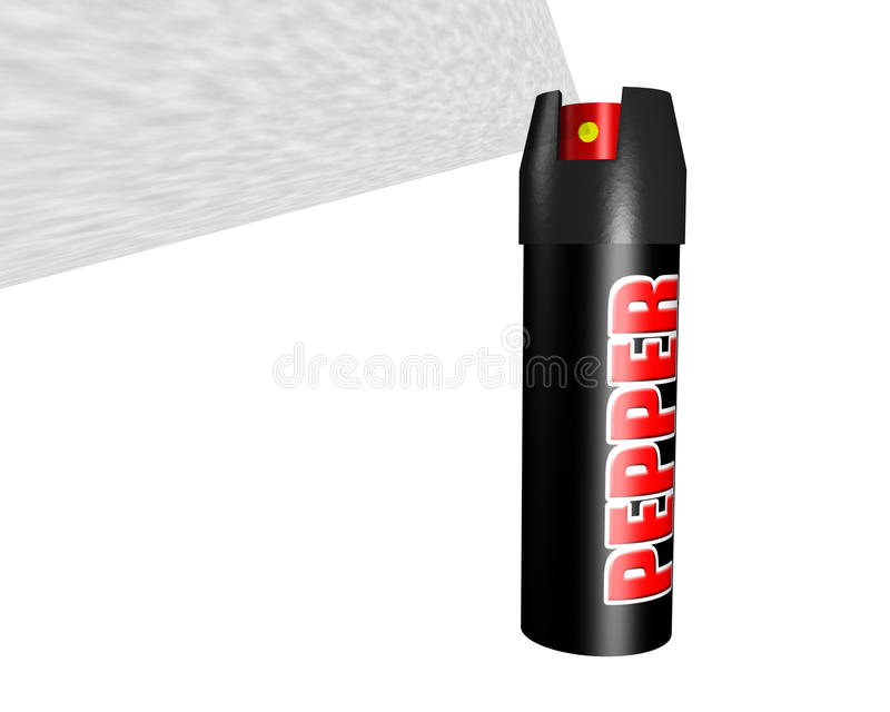 Spray au poivre illustration libre de droits