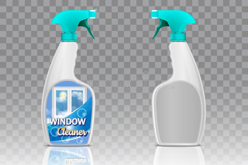 Spray bottle mockup set, vector realistic illustration vector illustration
