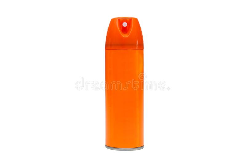 A spray bottle in orange color stock image