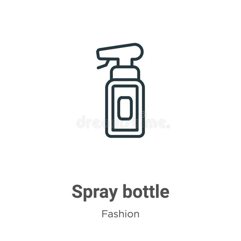 Free Spray Bottle Outline Vector Icon. Thin Line Black Spray Bottle Icon, Flat Vector Simple Element Illustration From Editable Fashion Royalty Free Stock Image - 175212446