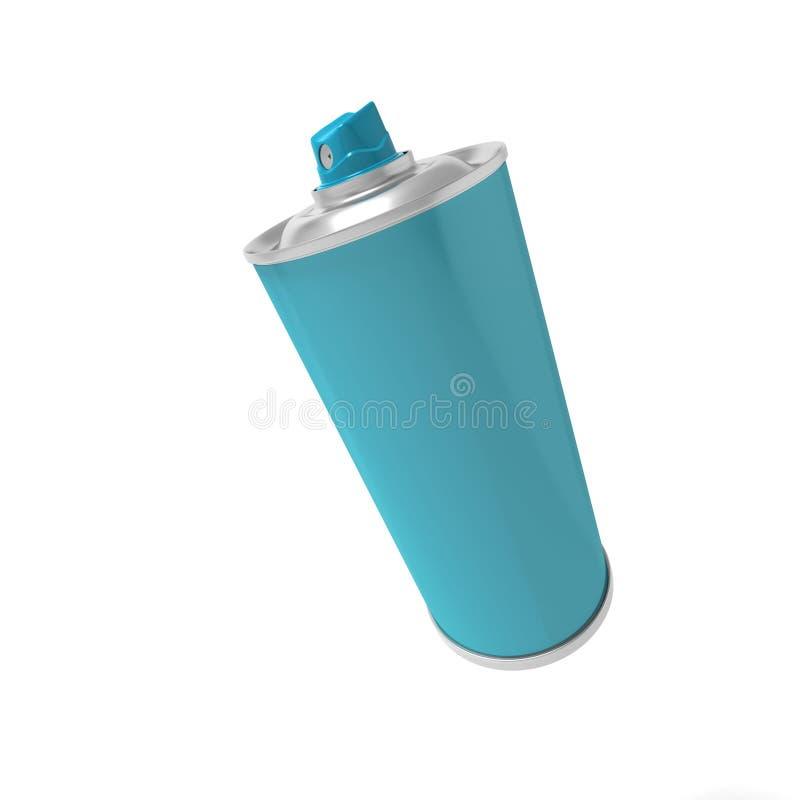 Download Spray can stock illustration. Illustration of spray, blue - 13805413