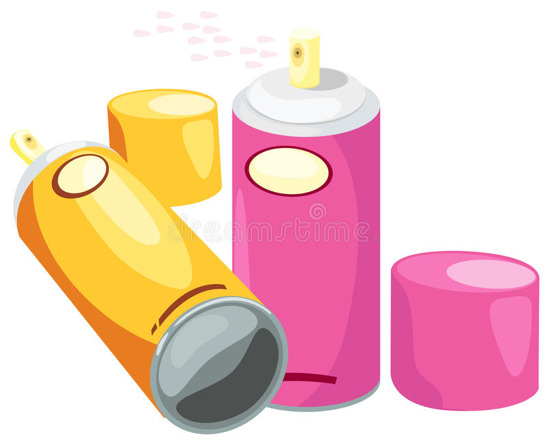 Download Spray can stock vector. Image of cartoon, colorful, cmyk - 20670305