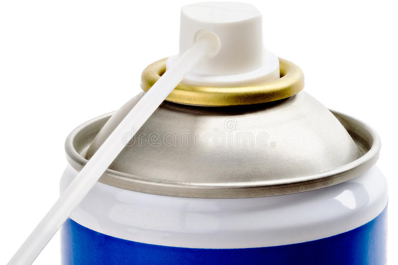 Spray can nozzle extension royalty free stock image