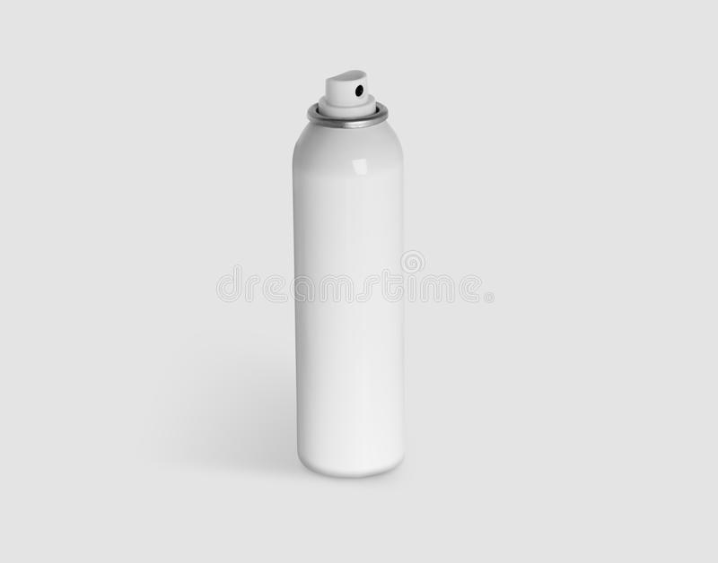 Spray can in white painted metal isolated on white background with clipping path stock images