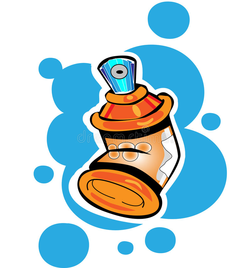 Spray cans. Easy to resize or change color vector illustration