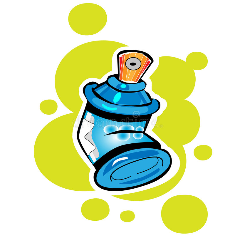 Spray cans. Easy to resize or change color royalty free illustration