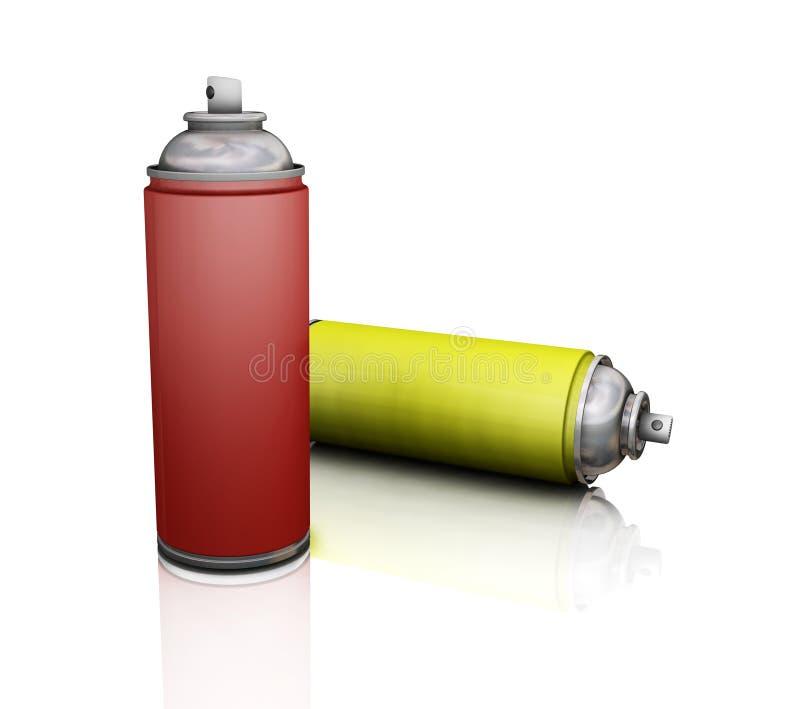 Download Spray cans stock illustration. Illustration of metallic - 955485