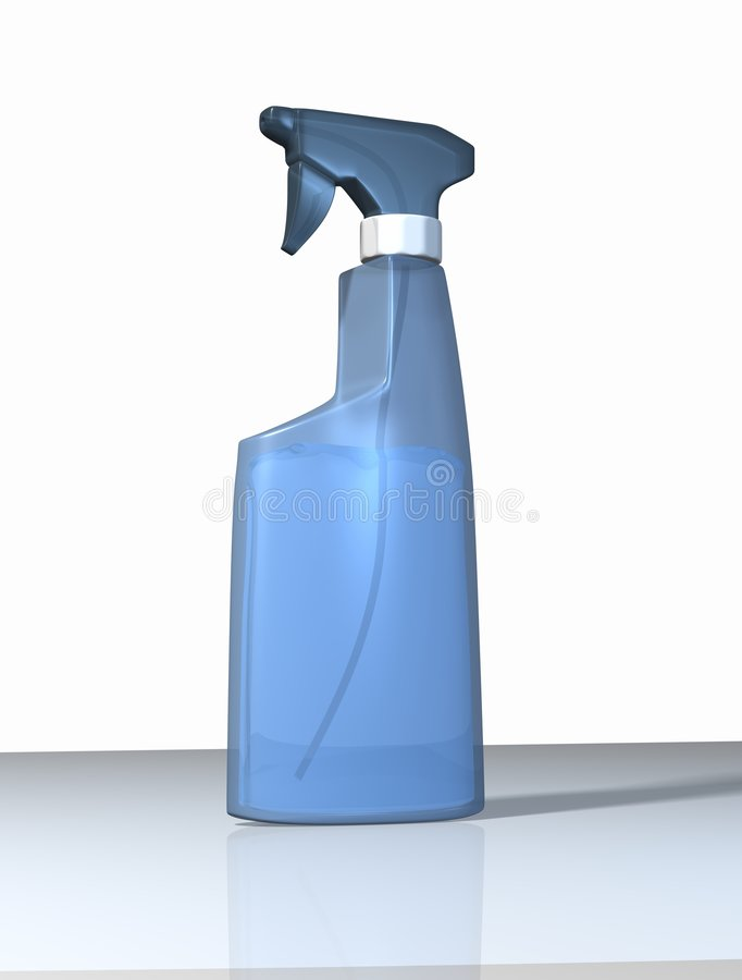 Spray cleaner royalty free stock photography