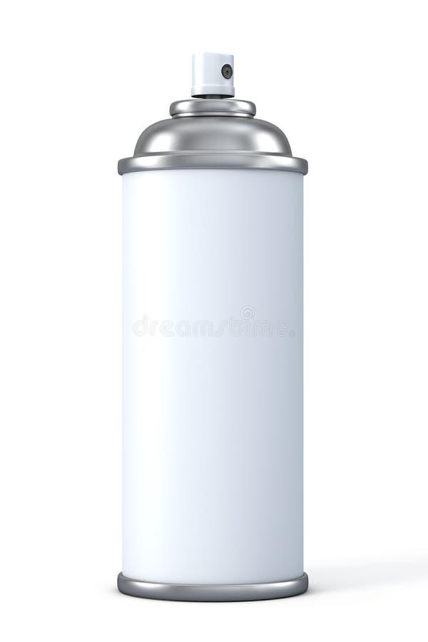 spray för aluminum can stock illustrationer