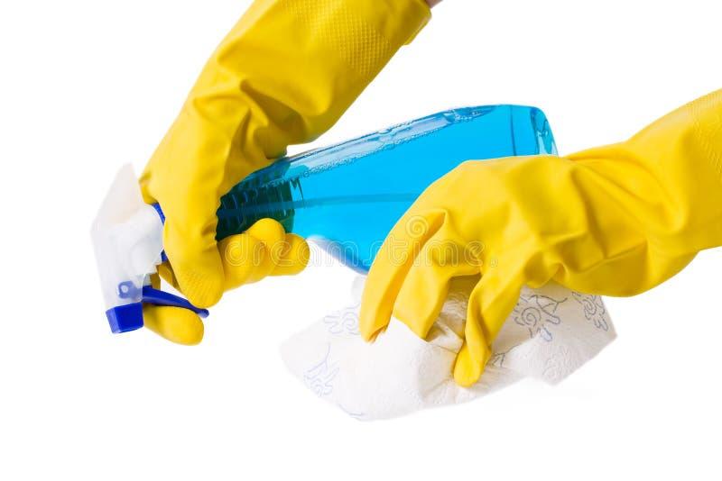 spray för flaskhandskehand arkivfoto