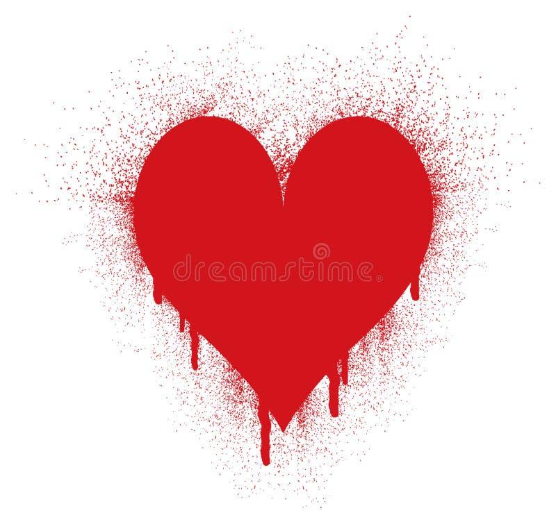 spray för hjärtafärgpulverform royaltyfri illustrationer