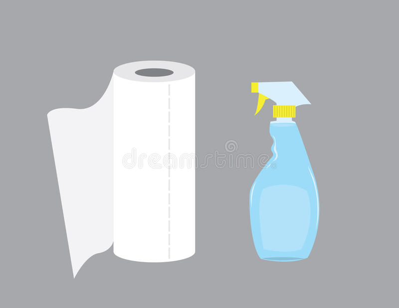 spray för flaskcleaning vektor illustrationer