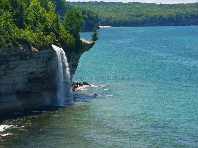 Spray Falls - Michigan UP stock photo