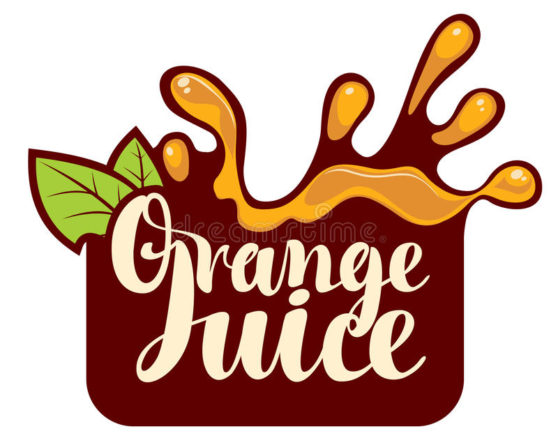 spray of fresh orange juice stock vector illustration of logo rh dreamstime com  orange juice logo design