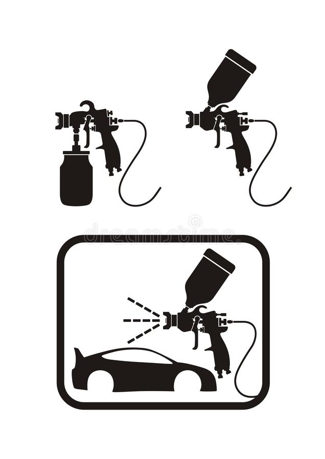 Download Spray gun stock vector. Image of isolated, industry, painter - 10010559
