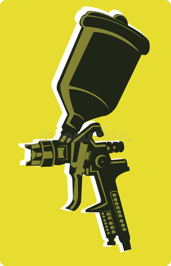 Spray gun royalty free illustration