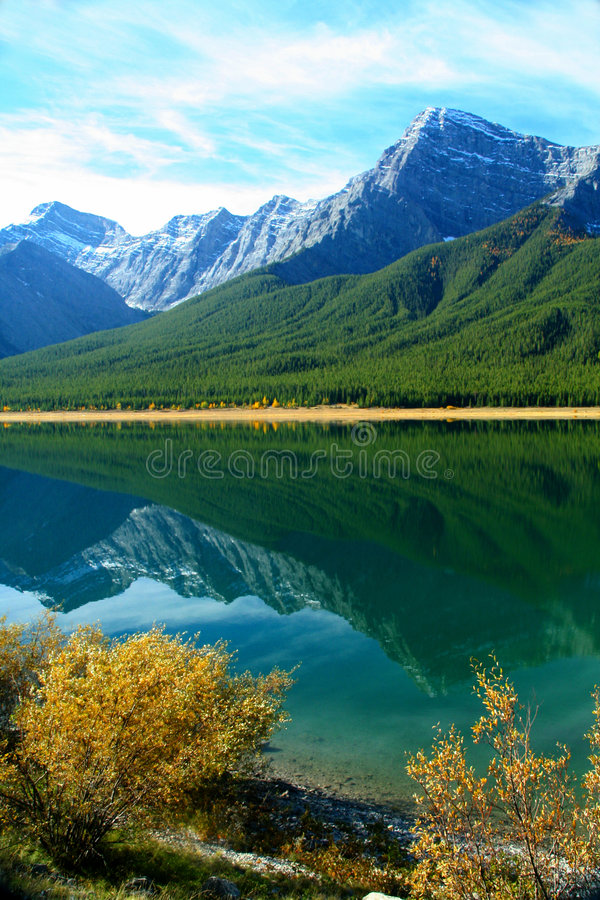 Spray Lakes reflection royalty free stock images