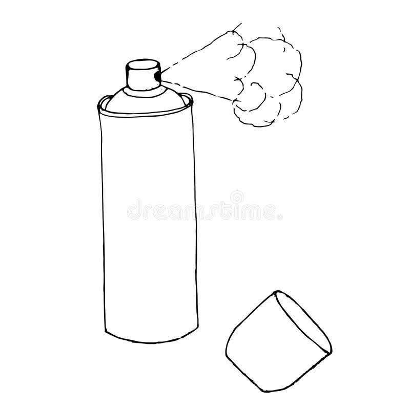 spray Monokrom skissar stock illustrationer