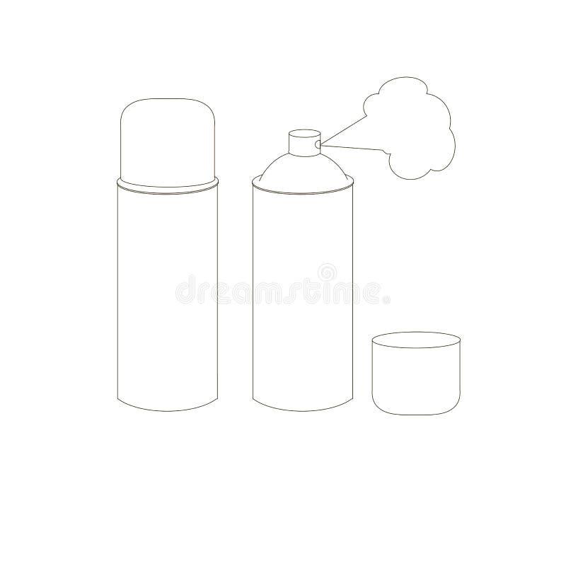 spray monokrom skissar vektorn för designbeståndsdelmaterielet stock illustrationer
