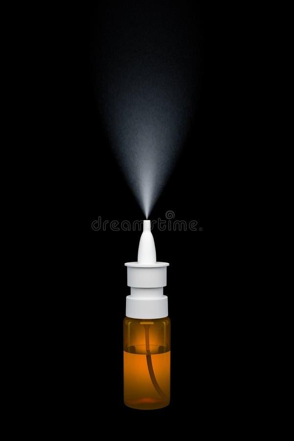 Spray nasale illustrazione vettoriale