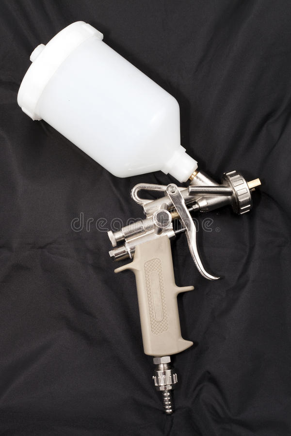 Spray paint gun royalty free stock images