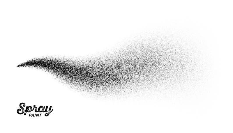 Spray paint splatter. Pattern, vector illustration royalty free illustration
