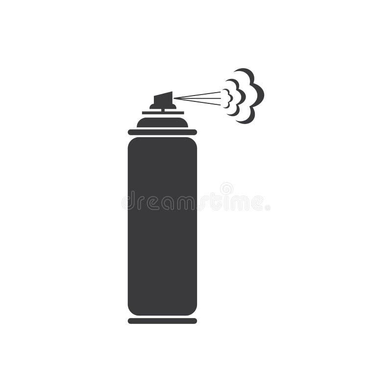 Spray paint  vector illustration icon Logo Template design. Pictogram, car, equipment, painter, industrial, compressor, blob, hair, container, deodorant stock illustration