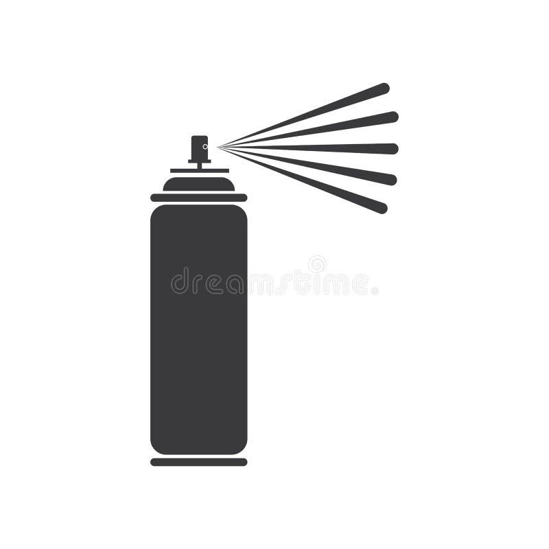 Spray paint  vector illustration icon Logo Template design. Pictogram, car, equipment, painter, industrial, compressor, blob, hair, container, deodorant vector illustration