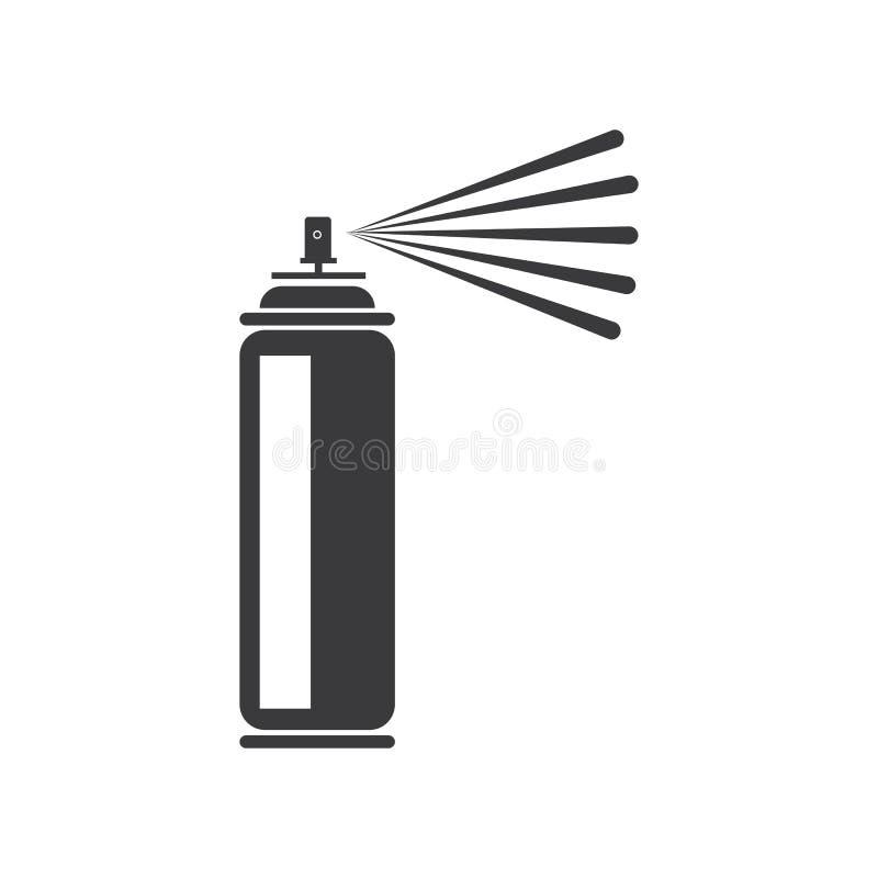 Spray paint  vector illustration icon Logo Template design. Pictogram, car, equipment, painter, industrial, compressor, blob, hair, container, deodorant royalty free illustration