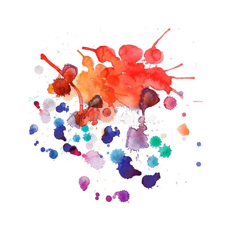 Spray paint, watercolor splash background royalty free illustration