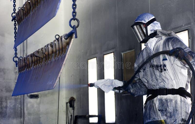 Spray painter royalty free stock photo
