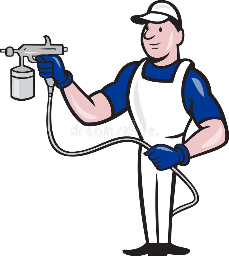 Download Spray Painter Spraying Gun Cartoon Stock Vector - Illustration of cartoon, artwork: 27376715